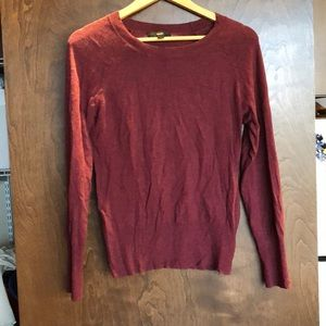 Maroon crew neck sweater size medium